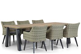 Garden Collections Milton/Glasgow 240 cm dining tuinset 7-delig