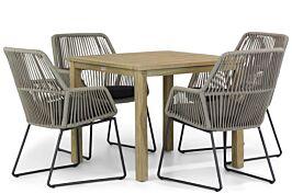 4 Seasons Outdoor Ramblas/Weston 90 cm dining tuinset 5-delig