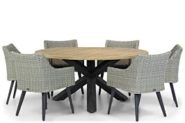 Garden Collections Milton/Rockville 160 cm rond dining tuinset 7-delig