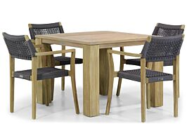 Lifestyle Dallas/Brighton 100 cm dining tuinset 5-delig