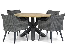 Garden Collections Milton/Rockville 120 cm rond dining tuinset 5-delig