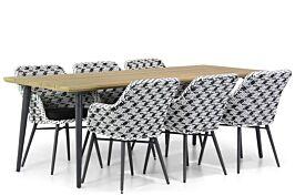 Lifestyle Crossway/Julia 220 cm dining tuinset 7-delig