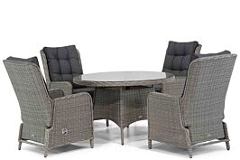 Garden Collections Kingston/Aberdeen 120 cm rond dining tuinset 5-delig