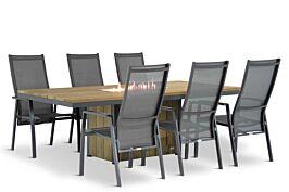 Lifestyle Lancaster/Seaside 220 cm dining tuinset 7-delig