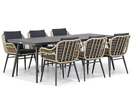 Lifestyle Leonardo/Valencia 220 cm dining tuinset 7-delig