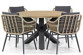 Coco Leonardo/Rockville 120 cm dining tuinset 5-delig