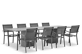 Lifestyle Amarilla/Graniet 300 cm dining tuinset 9-delig stapelbaar