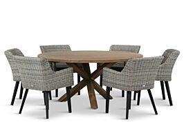 Garden Collections Milton/Sand City rond 160 cm dining tuinset 7-delig