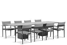 Lifestyle Dego/Graniet 300 cm dining tuinset 9-delig stapelbaar