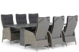 Garden Collections Lincoln/Graniet 220 cm dining tuinset 7-delig