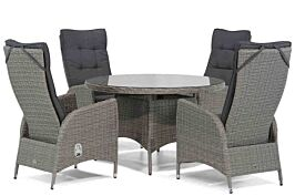 Garden Collections Lincoln/Aberdeen 120 cm rond dining tuinset 5-delig