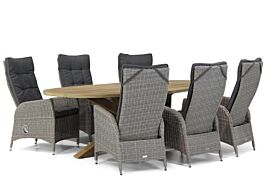 Garden Collections Lincoln/Boston 240 cm ovaal dining tuinset 7-delig