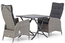 Garden Collections Lincoln/Nicola 80 cm dining tuinset 3-delig