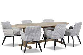 4 Seasons Outdoor Lisboa/Brighton 240 cm dining tuinset 7-delig