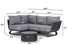 Santika Corniche chaise longue loungeset 3-delig
