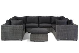 Garden Collections Toronto loungeset U-vorm 9-delig