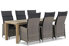 Garden Collections Madera/Bristol 220 cm dining tuinset 7-delig