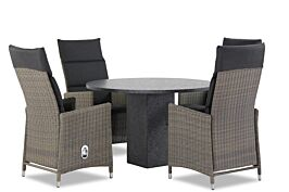 Garden Collections Madera/Graniet 120 cm dining tuinset 5-delig
