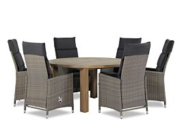 Garden Collections Madera/Oxford rond 150 cm dining tuinset 7-delig