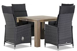 Garden Collections Madera/Brighton 100 cm dining tuinset 5-delig