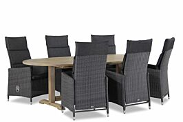 Garden Collections Madera/Brighton ovaal 240 cm dining tuinset 7-delig