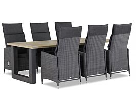 Garden Collections Madera/Cardiff U-factor 240 cm dining tuinset 7-delig