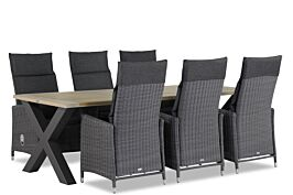 Garden Collections Madera/Cardiff 240 cm dining tuinset 7-delig