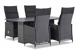 Garden Collections Madera/Graniet 180 cm dining tuinset 5-delig