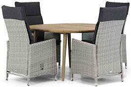 Garden Collections Madera/Julia 120 cm rond dining tuinset 5-delig