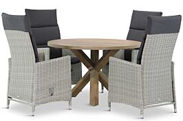 Garden Collections Madera/Sand City rond 120 cm dining tuinset 5-delig