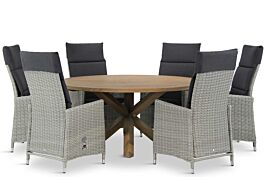 Garden Collections Madera/Sand City rond 160 cm dining tuinset 7-delig