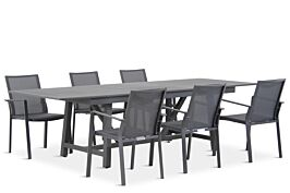 Lifestyle Mattine/General 217/277 cm dining tuinset 7-delig stapelbaar