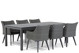 Garden Collections Milton/Concept 220 cm dining tuinset 7-delig
