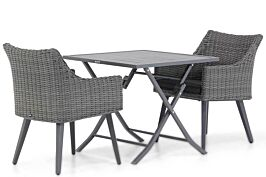 Garden Collections Milton/Nicola 80 cm dining tuinset 3-delig
