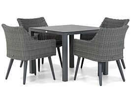 Garden Collections Milton/Pallazo 90 cm dining tuinset 5-delig