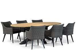 Garden Collections Milton/Brookline 240 cm ovaal dining tuinset 7-delig