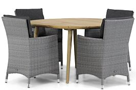 Garden Collections Orlando/Julia 120 cm rond dining tuinset 5-delig