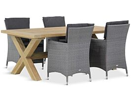 Garden Collections Orlando/Oregon 200 cm dining tuinset 5-delig