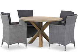 Garden Collections Orlando/Sand City rond 120 cm dining tuinset 5-delig