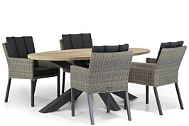 Garden Collections Oxbow/Brookline 200 cm dining tuinset 5-delig