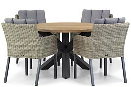 Garden Collections Oxbow/Rockville 120 cm dining tuinset 5-delig