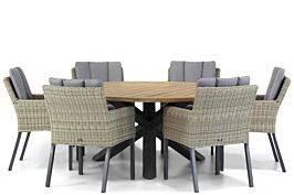 Garden Collections Oxbow/Rockville 160 cm dining tuinset 7-delig