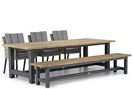 Garden Collections Oxbow/San Francisco 260 cm dining tuinset 5-delig