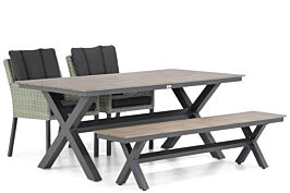 Garden Collections Oxbow/Forest 180 cm dining tuinset 4-delig