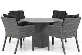 Garden Collections Oxbow/Graniet rond 120 cm dining tuinset 5-delig