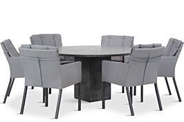 Lifestyle Parma/Graniet 140 cm rond dining tuinset 7-delig