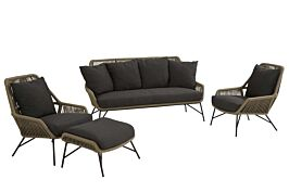 4 Seasons Outdoor Ramblas stoel-bank loungeset 4-delig