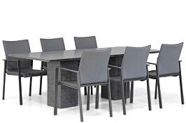 Lifestyle Rome/Graniet 220 cm dining tuinset 7-delig