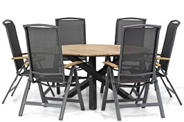 Lifestyle Rosello/Fabriano 150 cm dining tuinset 7-delig