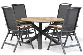 Lifestyle Rosello/Fabriano 120 cm dining tuinset 5-delig